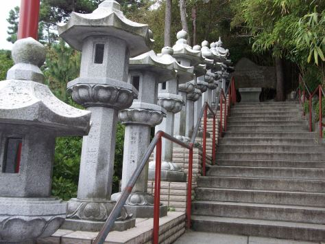 Steps at a Buddhist Temple in Korea